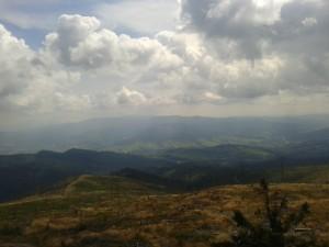 Widok ze szczytu Baraniej Góry