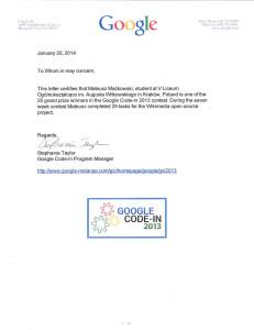 m4tx GCI Winner Letter